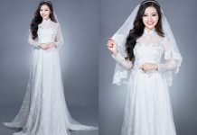 ao dai cuoi cho co dau gay